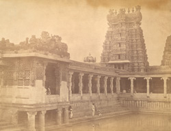 North-west corner of the Golden Lily Tank, Minakshi Sundareshvara Temple, Madurai